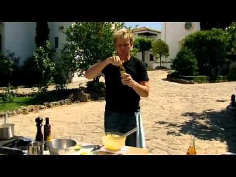Chef Ramsay prepares Lobster and caviar with crisp potatoes - Gordon Ramsay