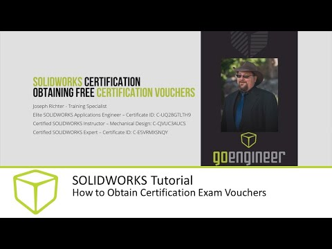 SOLIDWORKS Tutorial How to Obtain Certification Exam Vouchers ...
