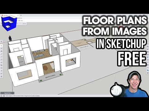 Creating Floor Plans FROM IMAGES in SketchUp Free!