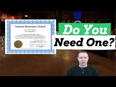 Bartender License/Certificate: Do You Need One?