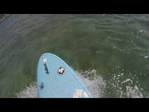 "SMALL SURF AT ALA MOANA BOWLS ON MY 7'6"" TORQ FUNBOARD SURFBOARD 10-21-17"