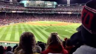 Fenway Park Sings Along To Shane Victorino's Music - World Series 2013 Game 1