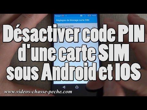 Désactiver code PIN carte SIM (Android et IOS)
