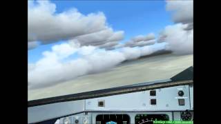 Approach and landing at Manaus Airport - Airbus A320. |FS9 HD|