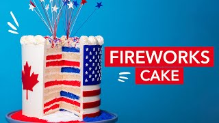 This Fireworks Cake EXPLODES! | How To Cake It with Yolanda Gampp