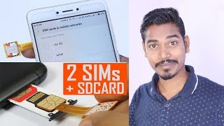How to Use 2 Sim with Micro Sd Card in Hybrid Sim Slot ( Redmi Note 4 )