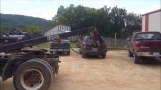 Menards Master lift semi tractor mounted forklift  for sale | sold at auction April 22, 2015