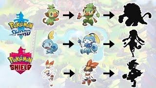 Grookey Scorbunny Sobble Evolution Pokemon Sword Shield Fanart