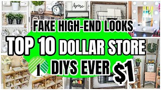 10 CLEVER DOLLAR STORE DIYS│ FAKE HIGH-END LOOKS WITH DOLLAR TREE PRODUCTS