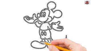 How To Draw Mickey Mouse Step By Step Free Video Search Site