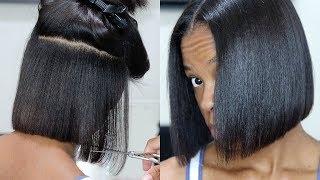 I CUT MY HAIR! D.I.Y Blunt Bob On Texlaxed Hair ✂️