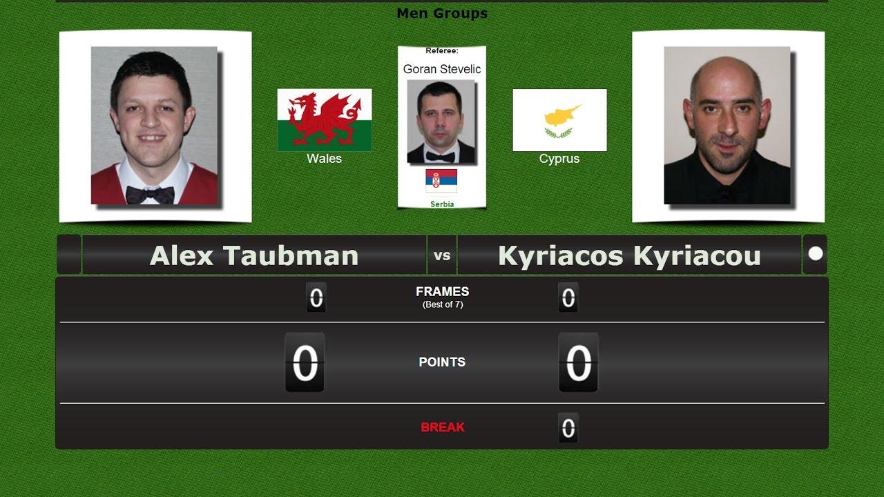 European Snooker Championships → Nicosia 2017 Alex Taubman vs Kyriacos Kyriacou