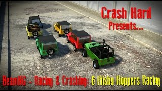 BeamNG - Racing & Crashing - 6 Ibishu Hoppers Racing