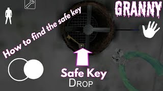 How to find the safe key ( granny version 1.5 )