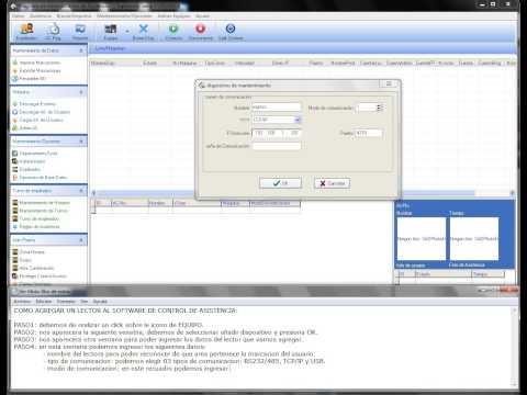 Agregar lector al software de control de asistencia ZK - SEGO