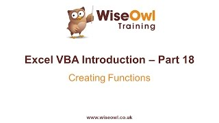 Download Youtube: Excel VBA Introduction Part 18 - Creating Functions