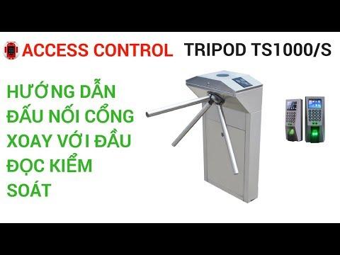 Hướng dẫn đấu nối cổng xoay TS1000 với đầu đọc thẻ | TS1000 connect to controller