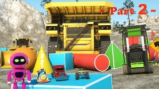 Learn Shapes At the Construction Site - Learn Shapes And Race Monster Trucks - TOYS (Part 2)