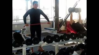 Тренер Александр Гвоздь. Тренировка Александра Кузина МС по академической гребли.