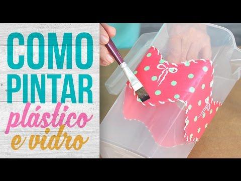 Como pintar plástico e vidro {Jarra de Plástico Personalizada}