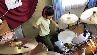 "Led Zeppelin - Good Times Bad Times   / Cover By Yoyoka , 8 Year Old  / 8歳小2女子ドラマーよよか""が叩いてみた"