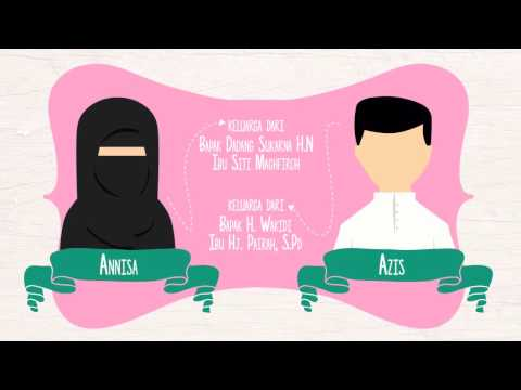 Video Video  Wedding Invitation Moslem Couple