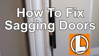How To Fix Sagging Doors - Easily Align And Square Your Doors Using Shims
