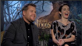 INTO THE WOODS interview with Emily Blunt and James Corden (UNCENSORED NSFW)