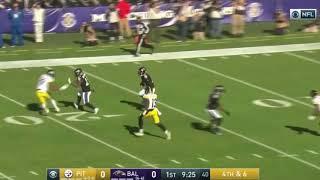 Ben Roethlisberger Punt vs. Ravens | NFL Highlights