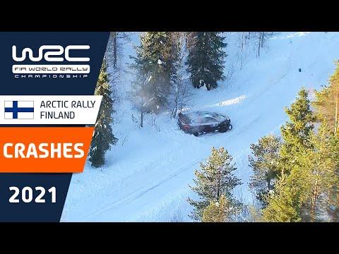 WRC 2021 第2戦のラリーフィンランド クラッシュシーンのみを集めたダイジェスト動画