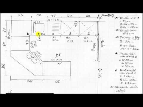 Küchenzeichnung selber machen auf mm Papier Anleitung