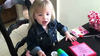 Presley opening her Vday present - Video Youtube