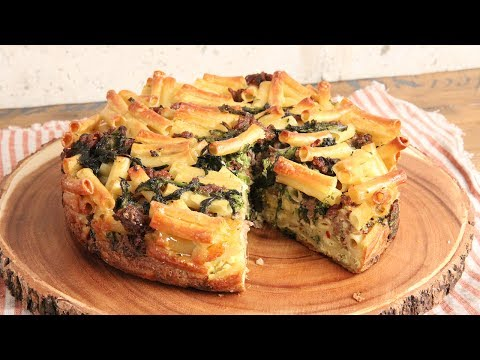 Sausage & Broccoli Rabe Pasta Pie   | Episode 1171