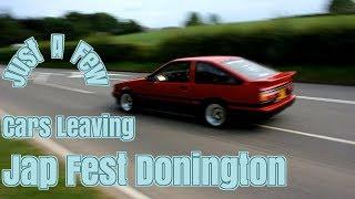 Cars Leaving JAPFEST 2019 DONINGTON || Rev Donut Burnout Repeat ♛