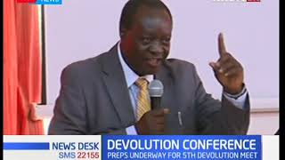 Devolution CS Eugene Wamalwa oversee's preparations for forthcoming Devolution Conference