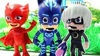 Герои в Масках мультик новые серии. Игрушки PJ Masks - Кэтбой и Гекко спасают кошечку.