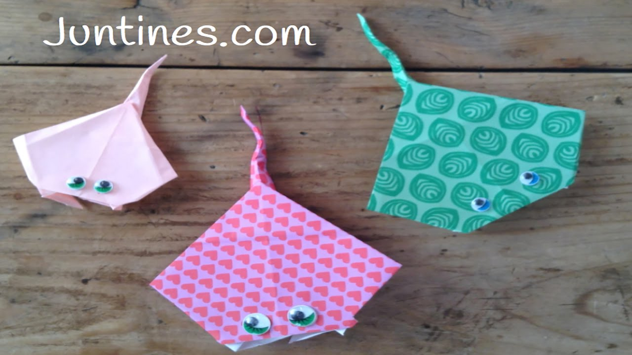 Pez de papel: Mantarraya de origami