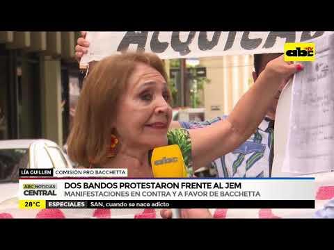 Manifestaciones a favor y en contra de Bacchetta