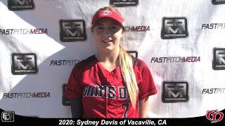 2020 Sydney Davis Pitcher, Shortstop and Outfield Softball Skills Video - Gameday