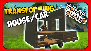 Scrap Mechanic ➤ TRANSFORMING DRIVEABLE HOUSE [Let's Play Scrap Mechanic Gameplay][Part 2]