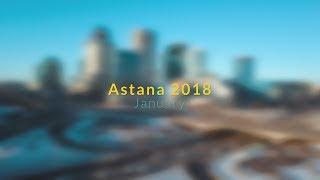 Flying above Astana 2018 in 4K / Астана зимой 2018