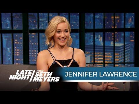Jennifer Lawrence Just Shot a Sex Scene with Chris Pratt - Late Night with Seth Meyers