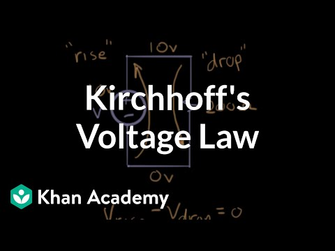 Kirchhoff's voltage law (video) | Khan Academy