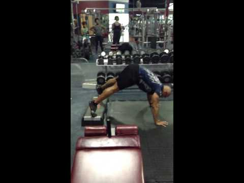 Pike Push-up on Bench