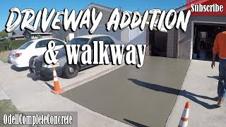 How to Pour a Driveway Addition and Walkway for Beginners DIY