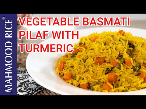 Vegetable Basmati Pilaf With Turmeric