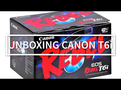 UNBOXING | Canon EOS Rebel T6i | EF S 18 55 IS STM Kit