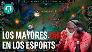 Los mayores FAILS en los ESPORTS: FORTNITE, OVERWATCH, LOL Y MÁS