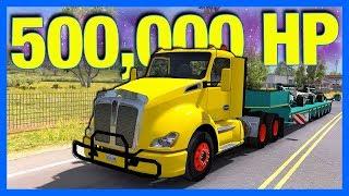 500,000 HORSEPOWER TRUCK!! (American Truck Simulator)
