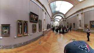 Louvre Museum VR 360 View - Denon Wing - Paris, France - LG 360 Camera
